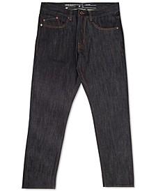 Men's Straight-Fit Raw Indigo Jeans