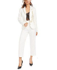 Deva Chain-Embellished Blazer & Cropped Trousers