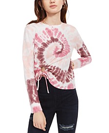 Juniors' Cropped Tie-Dyed T-Shirt