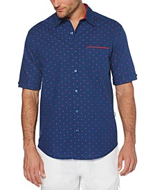 Men's Big & Tall Regular-Fit Dot Dobby Shirt