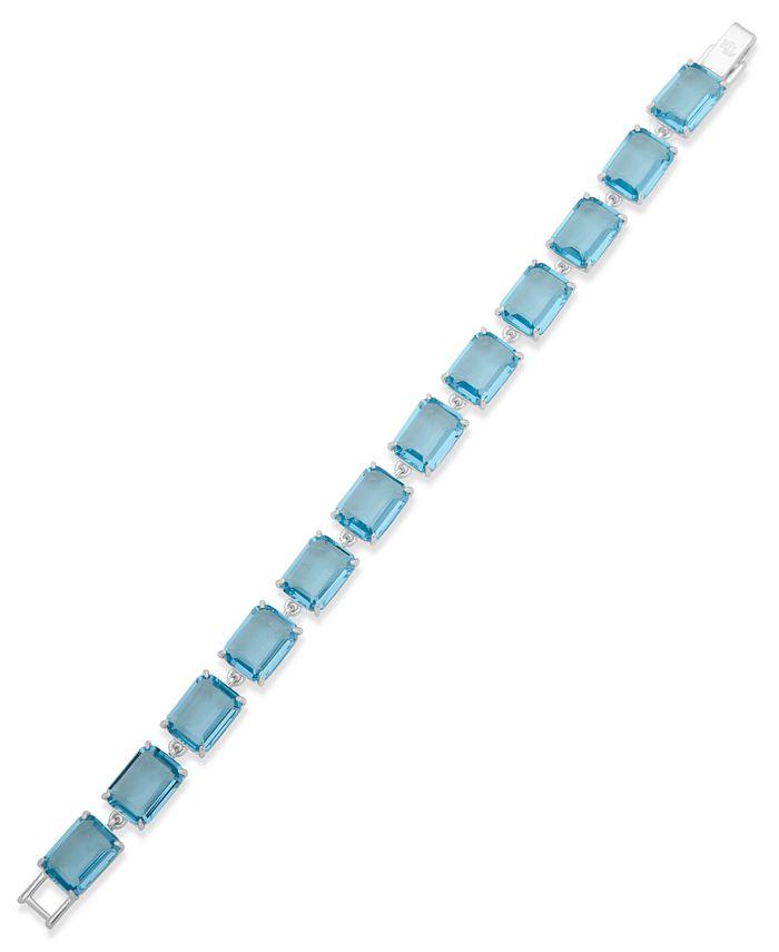 Lauren Ralph Lauren - Silver-Tone Stone Flex Bracelet
