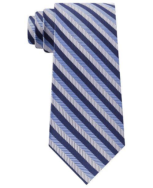 Tommy Hilfiger Men's Village Classic Textured Stripe Silk Tie