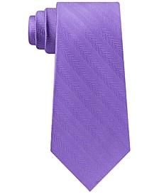 Men's Village Classic Textured Stripe Silk Tie