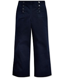 Big Girls Cotton Twill Sailor Pants