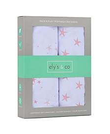 Ultra Soft Jersey Cotton Pack N Play Sheets 2 Pack