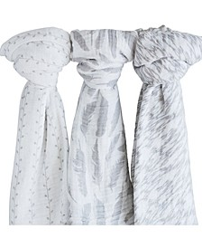 Cotton Muslin Swaddle Blanket 3 Pack