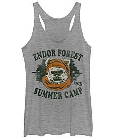 Star Wars Endor Summer Camp '83 Head Shot Portrait Tri-Blend Racer Back Tank