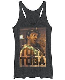 Animal House Toga Toga Toga Gradient Tri-Blend Racer Back Tank