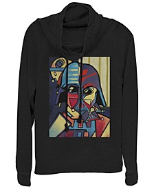 Star Wars Darth Vader Picasso Cubism Helmet Cowl Neck Sweater