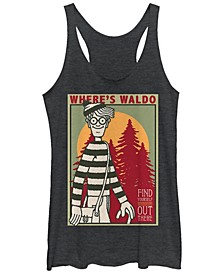 Where's Waldo Find Yourself Poster Tri-Blend Racer Back Tank