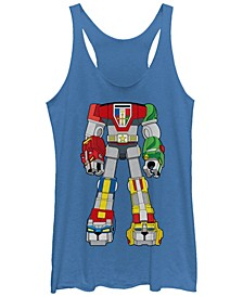 Voltron Defender Of The Universe Costume Retro Tri-Blend Racer Back Tank