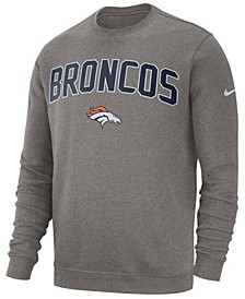 Men's Denver Broncos Fleece Club Crew Sweatshirt
