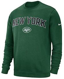 Men's New York Jets Fleece Club Crew Sweatshirt