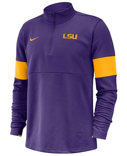 Nike Men's LSU Tigers Therma Half-Zip Pullover