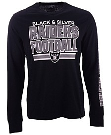Men's Oakland Raiders Dub Stack Super Rival Long Sleeve T-Shirt