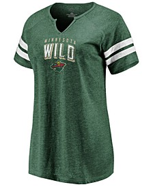 Women's Minnesota Wild Net V-Notch T-Shirt