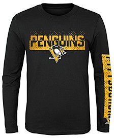 Big Boys Pittsburgh Penguins Slap Shot Long Sleeve T-Shirt