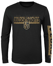 Big Boys Vegas Golden Knights Slap Shot Long Sleeve T-Shirt