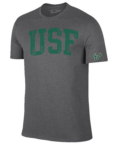 Retro Brand Men's South Florida Bulls Oversized Arch Dual Blend T-Shirt