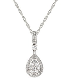 1/2 ct. t.w. Round Shape Diamond Pendant in 14k White Gold