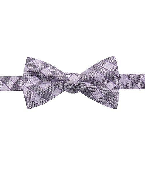 Ryan Seacrest Distinction Men's Larkspur Plaid Bow Tie