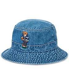 Men's Polo Bear Denim Bucket Hat