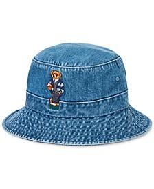 Men's Polo Bear Denim Bucket Hat