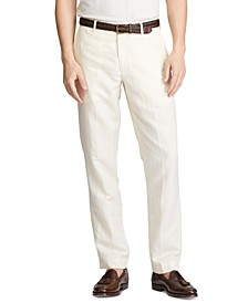 Men's Big & Tall Straight Fit Linen-Blend Pants