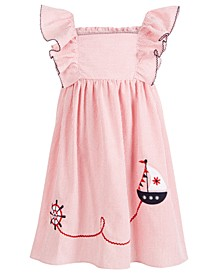 Toddler Girls Seersucker Sailboat Dress