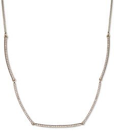 "Pavé Bar Collar Necklace, 16"" + 3"" extender"