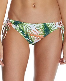 Juniors' Palma Printed Sweet Side-Tie Hipster Bikini Bottoms