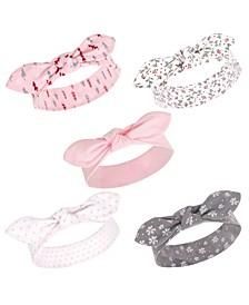 Baby Girl Cotton Headbands, Set of 5