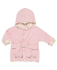 Vintage-Like Rose Baby Hooded Bathrobe