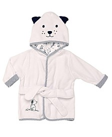 Puppy Toile Baby Hooded Robe
