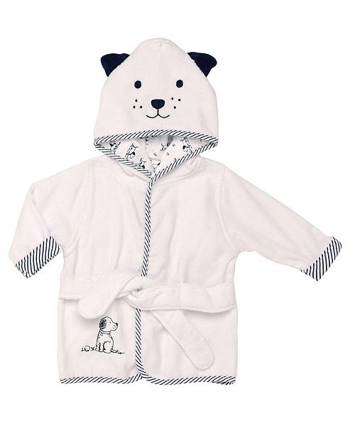 Little Me Puppy Toile Baby Hooded Robe