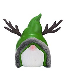 Terracotta Green Christmas Gnome Santa Figurine