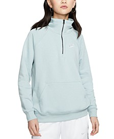 Women's Sportswear Essential Quarter-Zip Fleece Top