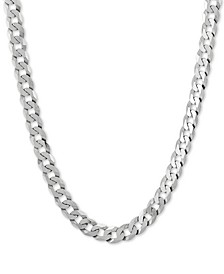 "Curb Link 22"" Chain Necklace in Sterling Silver"
