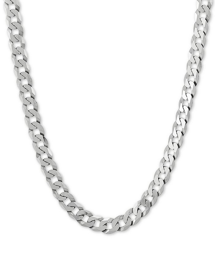 """Macy's - Curb Link 22"""" Chain Necklace in Sterling Silver"""