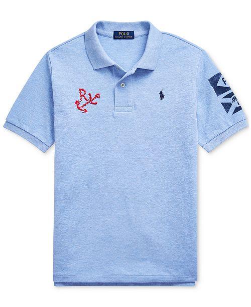 Polo Ralph Lauren Big Boys Nautical Cotton Mesh Polo Shirt