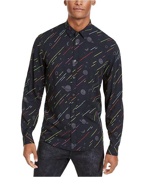 Just Cavalli Men's Slim-Fit Space Print Shirt