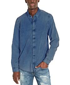 Men's Snap-Front Corduroy Denim Shirt