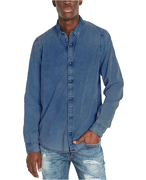 Buffalo David Bitton Men's Snap-Front Corduroy Denim Shirt