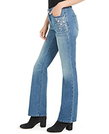 INC Crystal Cluster Bootcut Jeans, Created For Macy's