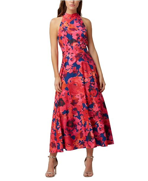 Tahari ASL Halter-Neck Maxi Dress
