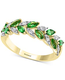 EFFY® Tsavorite (1 ct. t.w.) & Diamond (1/4 ct. t.w.) Ring in 14k Gold