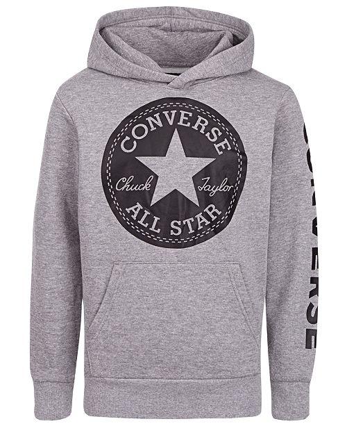 Converse Big Boys Signature Chuck Patch Logo Hoodie