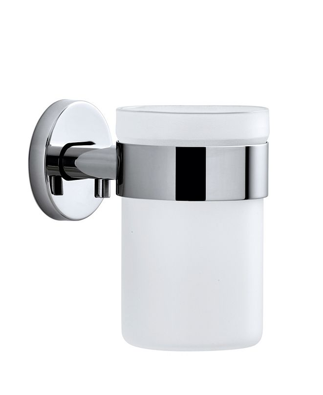 blomus Wall Mounted Toothbrush Holder Frosted Glass - Polished