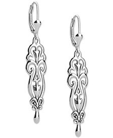 Filigree Dangle Drop Earrings in Sterling Silver