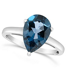 London Blue Topaz (3-1/3 ct. t.w.) Ring in Sterling Silver